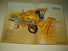 Catalogue Moissonneuse New Holland 8070 Sperry Tracteur Tractor Traktor Brochure