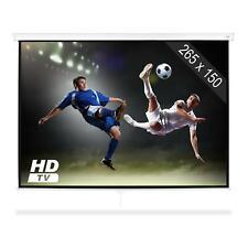 Beamer Leinwand HDTV Qualität Decken- und Wandmontage Heimanwendung 265x150cm