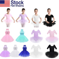 US Girls Kids Ballet Dress Dance Leotard Ballerina Tutu Skirts Dancewear Costume