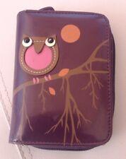 Ladies Dark Purple Owl Purse