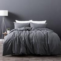 BIG SALE Linen/Cotton Duvet Cover Set Quilt Cover Twin Queen King Size