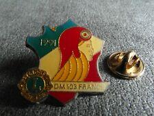 RARE PINS PIN'S - MARIANNE - LIONS CLUB 1991 - BONNET PHRYGIEN - COCARDE * EF *
