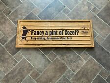 """More details for large kozel -wooden drip tray – man cave bar breweriana – 23.5"""" x 8.75"""""""