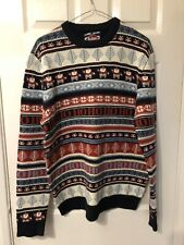 Lee Cooper - Christmas Jumper - Knitted Striped patterer - Medium - M - Mens