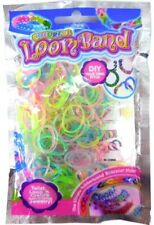 COLOURFUL LOOM BANDS - GLOW IN THE DARK RUBBER BAND BRACELET MAKING KIT