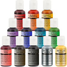 Chefmaster Airbrush Food Coloring Set - 12 Popular Colors in .7 fl. oz. Bottles