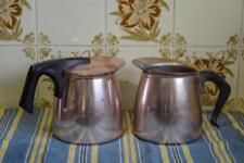 2 Anodised Rose Pink Poly Pots / Kettles / Jugs*Camping*Caravan Model Maid/Jason