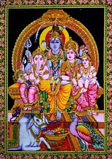 Indian Lord Shiva Ganesha Art Tapestry Throw Decor Hindu God Wall Hanging Poster