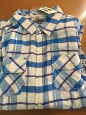 Boys Epic Thread Flannel Plaid Shirt Size Large (New)