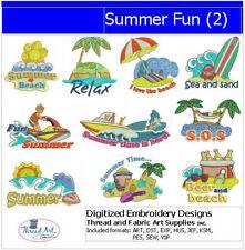 Embroidery Design Set - Summer Fun(2) - 10 Designs - 9 Formats - USB Stick