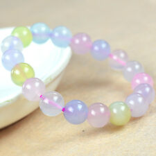 Genuine Natural mix color jade Gems Round Beads Bracelet 12MM
