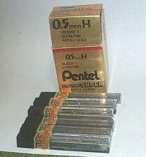 Pentel 0.5mmH Ulta Fine Lead Refills, 6  Tubes