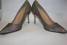 J Crew Elsie Woven Metallic Pumps Heels Shoes 6.5 Silver Gold Metallic $278 OMG!