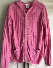 Janie And Jack Size 6 Girl's Pretty Pink Zip Cardigan Soft Sweater  EUC!