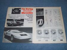 """1969 Mercedes C111 Coupe Vintage Info Article """"The Daring Wankel Mercedes"""""""