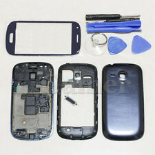 Blue Full Housing Case Screen Glass Cover Tool For Samsung Galaxy S3 mini I8190
