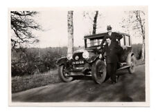 PHOTO ANCIENNE Voiture Auto Automobile Renault Peugeot ? Vers 1930 Homme Route