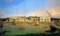 "Details about  CANALETTO : GREENWICH HOSPITAL FROM THE NORTH BANK 30"" x 20"""