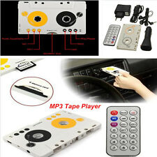 Car Telecontrol SD MMC MP3 Tape Player Audio Cassette Adapter Kit+Remote Control