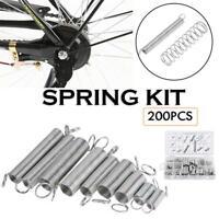 200Pcs Spring Set Kit Multi-sizes Assortment Steel Compression Extension Coil