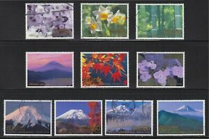 JAPAN 2008 YOKOSO! WELCOME TO JAPAN WEEKS COMP. SET OF 10 STAMPS IN FINE USED
