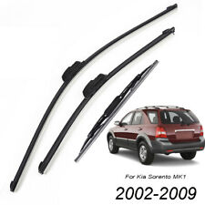 x3 Front Rear Wiper Blades Set Kit For Kia Sorento MK1 2002-2009 Front Rear