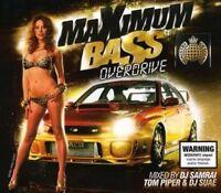 MINISTRY OF SOUND Maximum Bass Overdrive 3CD NEW DJ Samrai Tom Piper DJ Suae