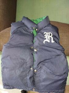 Boys Polo Ralph Lauren Reversible Down Puffer Vest (Navy Green) - SIZE 4