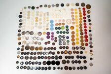 Lot of Vintage Antique Plastic Celluloid Bakelite MOB Abalone Glass Buttons