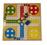 Traditional Non Magnetic Board Games Set Children Ludo Game