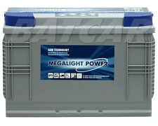 AGM PREMIUM Batterie Megalight 12V 100Ah ersetzt 115Ah 120Ah