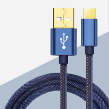 USB Power Charger Charging Data Sync Jeans Cable Cord For HTC Bolt