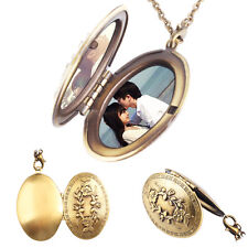 Bronze Medaillon Vintage Foto Anhänger zum öffnen Talisman Amulett Medallion Neu