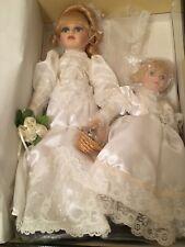 Baby's Dream Bride & Flower Girl - Lauryn & Meredith - Porcelain Wedding Dolls