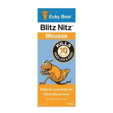 175ml Blitz Nitz Mousse Euky Bear Natural Nits Head Lice Treatment Essential Oil