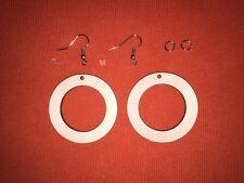 PAIR of n8 EARRINGS set / kit WOODEN UNPAINTED EMBELLISHMENTS DECOUPAGE CRAFT