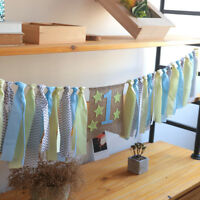 EE_ CN_ FM- Baby One Year Old Birthday Party Hanging Flag Garland Banners Buntin