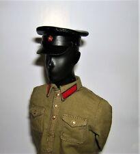 Banjoman custom made 1/6th Scale WW2 Soviet NKVD Black Leather Cap