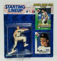 JEFF BAGWELL Houston Astros Kenner Starting Lineup MLB SLU 1993 Figure & 2 Cards