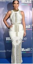 HIGH QUALITY White Floor Length Bandage dress Medium