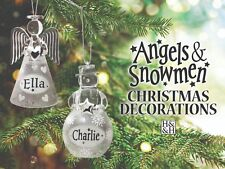 History & Heraldry Angels and Snowmen Light Up Hanging Christmas Decorations