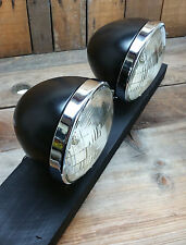 HEADLIGHTS PAIR VTG DEITZ STYLE HOT ROD CUSTOM STREET RAT 1932 BUCKETS BULBS 34