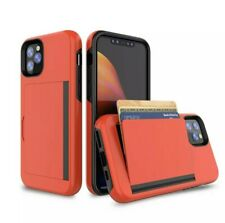 iPhone 11,11 PRO MAX Cover CASE With Wallet Credit CARD HOLDER - Shockproof - PC