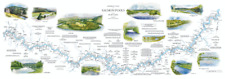 Deluxe Colour River Maps by Nigel Houldsworth 8 Options
