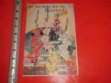 HS747 Vintage 1933 Fold-Out Flower Catalog Kunderd's Gladioli