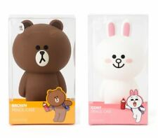 Korea LINE FRIENDS Brown Cony Standing Silicone Pen Pencil Case Mascot Gift