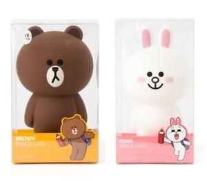 Korea LINE FRIENDS Brown Cony Standing Silicone Pen Pencil Case Mascot Gift