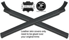 WHITE STITCH 2X A PILLAR LEATHER COVERS FITS LAND ROVER DEFENDER 90 110 07-16