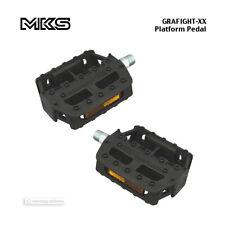 "NEW MKS GRAFIGHT-XX Plastic Platform Bicycle Pedals : 1/2"" BLACK"