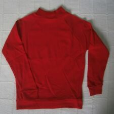 Vintage Long-Sleeved Nylon Top - Age 10 Years Approx - Red - Crew-Neck - New
